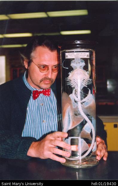 Dr George Benz With Shark Cartilage Skeleton